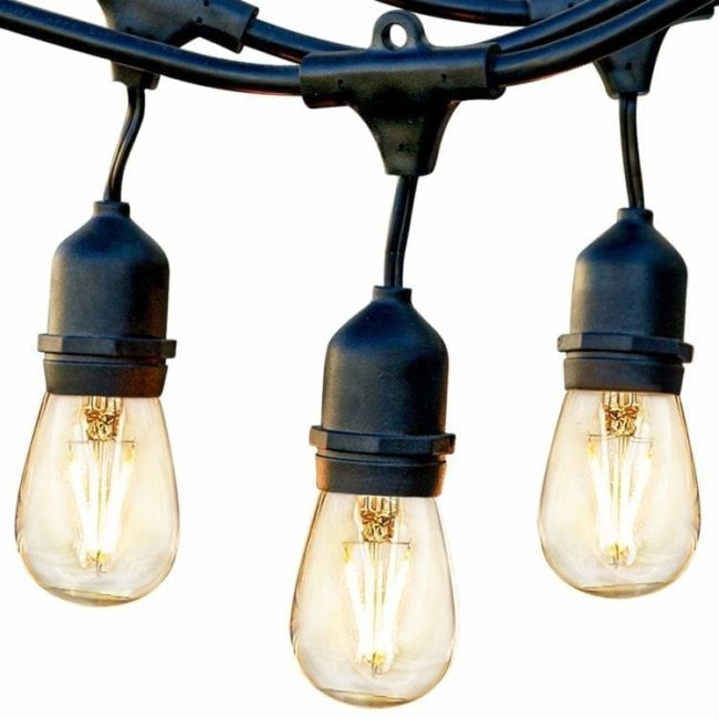 Outdoor String Lights South Africa: Waterproof Vintage Edison Bulbs