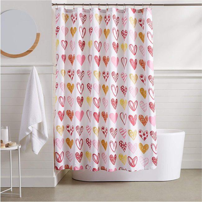 cortina de baño para el dia del amor