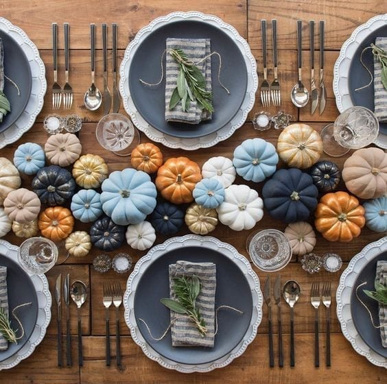 Elegantes decoraciones para la mesa de Thanksgiving