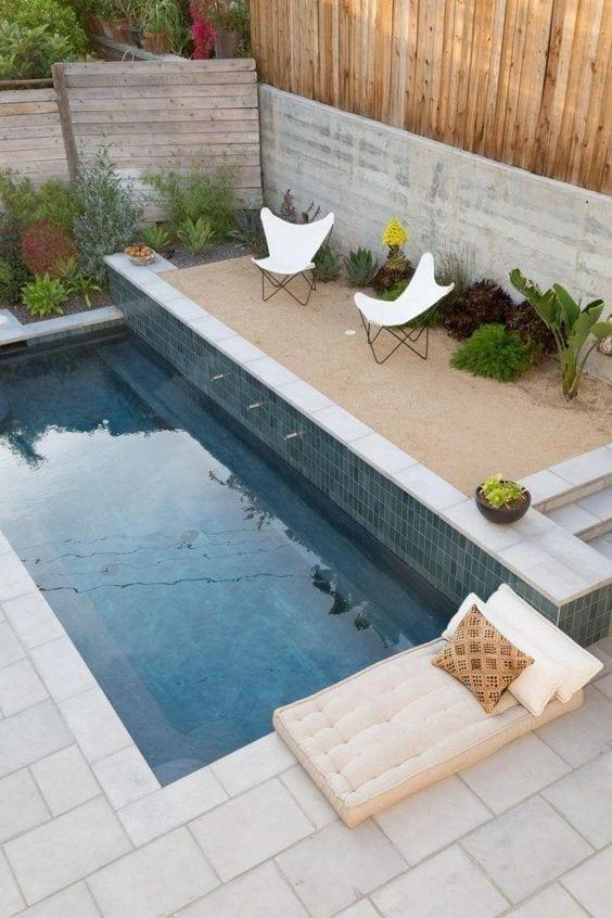 diseños de piscinas modernos y rectangulares