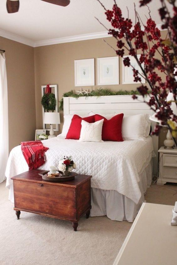Ideas para decorar la habitación principal en Navidad