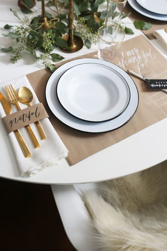 decorar la mesa de Thanksgiving