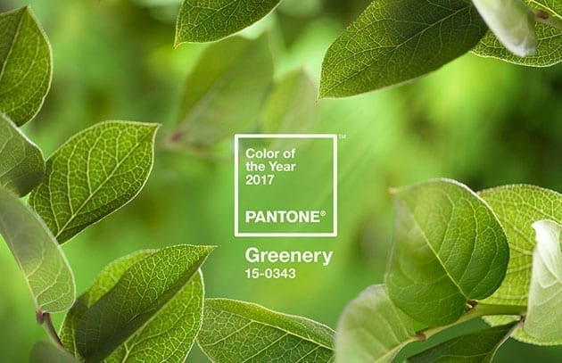 Greenery, color Pantone 2017 para la decoración