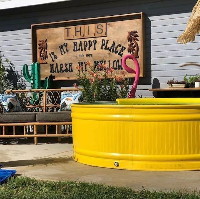 ideas para pintar stock tank pool o piscina de tanque