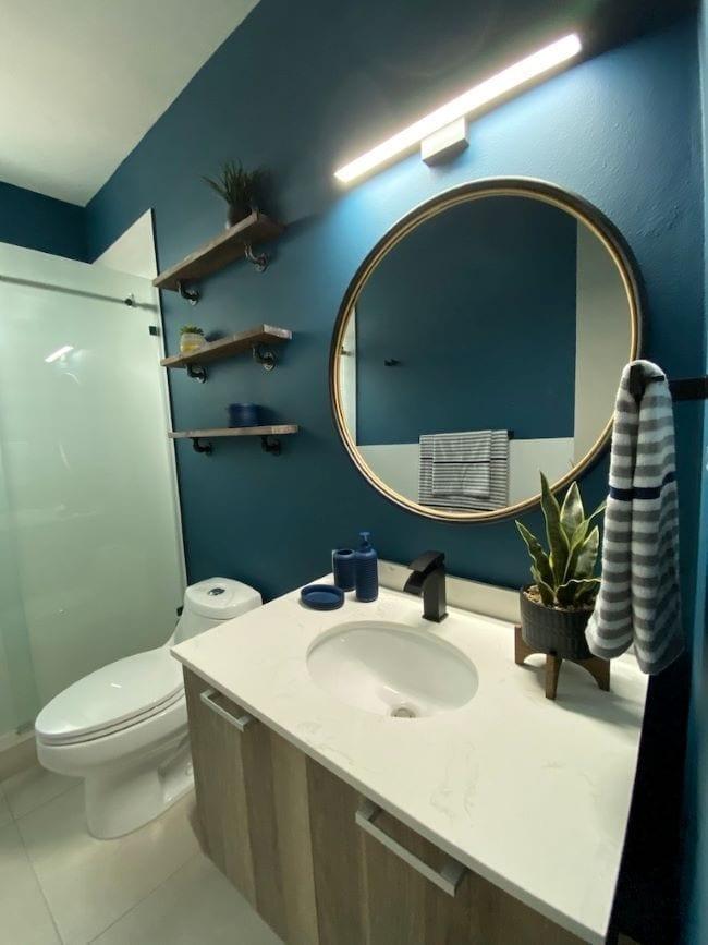 ideas para decorar el baño de azul