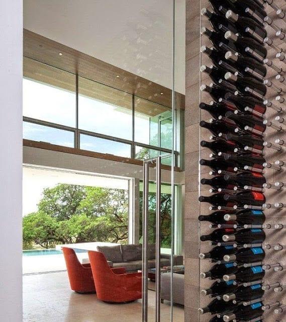 Casa moderna en un viñedo